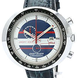 TAG HEUER Jacky ICKX Easy-Rider Steel Leather Hand-Winding Mens Watch