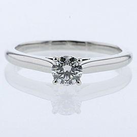 CARTIER 950Platinum / diamond Solitaire Ring