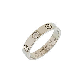 Cartier Mini Love Platinum Ring Size 5.75