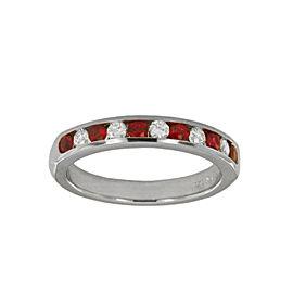 Tiffany&Co. Diamond Wedding Rubies & Diamond Band Ring