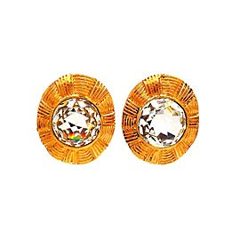 Vintage Chanel Earrings Rhinestones