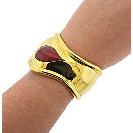 Tiffany & Co. Elsa Peretti Carnelian Gold Bone Cuff Bracelet