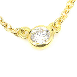 Tiffany & Co. 18K Yellow Gold Diamond By The Yard Necklace Pendant CHAT-180