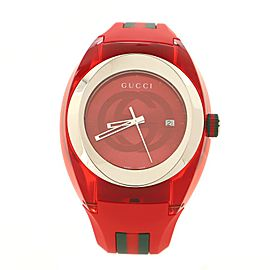 Gucci Sync Quartz Watch Stainless Steel with Plexiglass and Rubber 46