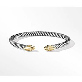 David Yurman Empire Cable Bracelet with 18K Yellow Gold Domes