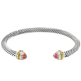 David Yurman Cable Classic Bracelet with Morganite and 14K Gold_5 mm