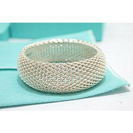 Tiffany & Co. Sterling Silver Extra Wide Somerset Mesh Bangle Bracelet