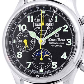 "Ernst Benz ""ChronoLunar"" Stainless Steel Mens Watch"