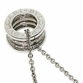 BVLGARI Diamond 18k White Gold B-zero1 Necklace