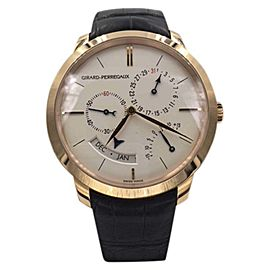 Girard-Perregaux 1966 Equation of Time 49538-52-131-BK6A 18K Rose Gold & Leather 40mm Mens Watch