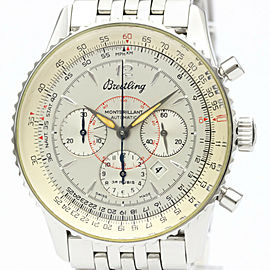 BREITLING Stainless Steel Navitimer Montbrillant Watch HK-2357