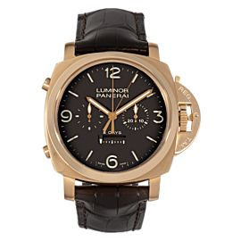 Panerai Luminor 1950 Rattrapante 8 Days Pink Gold Box /Papers