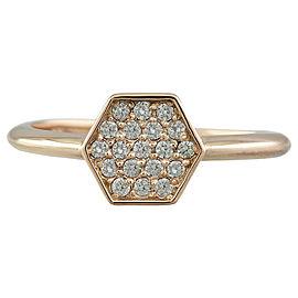 0.22 Carat 14K Rose Gold Diamond Ring