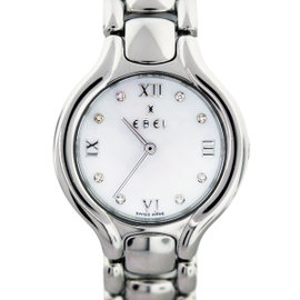 Ebel Beluga E9976411 Stainless Steel Mother of Pearl Diamond Dial 26mm Womens Watch