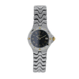 Ebel Sportwave E6087621 Stainless Steel Black Dial 28mm Womens Watch