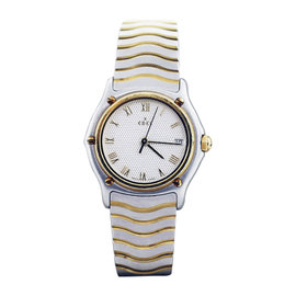 Ebel Wave Stainless Steel & 18K Yellow Gold 26mm Womens Watch