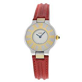 Ladies' Cartier Must de Cartier Gold Steel 125000P Quartz 28MM Watch