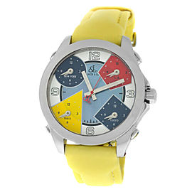 New Unisex Jacob & Co. Five 5 Time Zone JCM-7 Stainless Steel 40MM MOP Watch