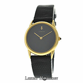 Ladies Corum Black Dial Solid 18K Yellow Gold Mechanical 28MM Watch