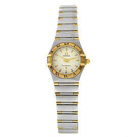 Ladies' Omega Constellation Half Bar 18K Yellow Gold 22MM Quartz Watch