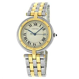 Cartier Panthere Vendome 183964 Unisex Two Row Gold Steel Quartz 30MM Watch