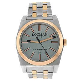 New Locman Stealth Titanium Rose Gold Tone Ref. 201 Men's Quartz 43MM Watch