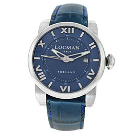New Locman Toscano Men's Stainless Steel Ref. 590 Automatic 42MM Watch