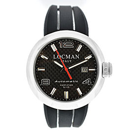 New Locman Change Ref. 425 Automatic Steel Carbon Men's 46MM Watch