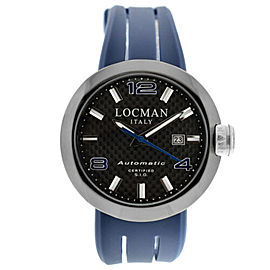 New Locman Change Ref. 425 PVD Steel Carbon Men's Automatic 46MM Watch