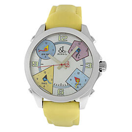 Unisex Jacob & Co. Five 5 Time Zone Watch JCM-24 Stainless Steel 40MM MOP