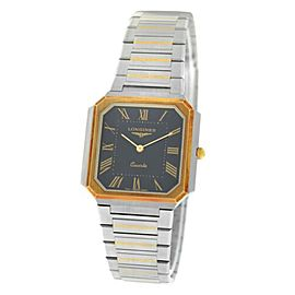 New Unisex Longines Stainless Steel Yellow Gold Quartz 28mm Watch