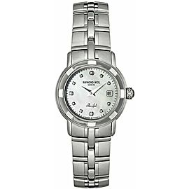 Ladies Raymond Weil Parsifal 9441-ST-97081 Steel Diamond MOP Quartz 28MM Watch