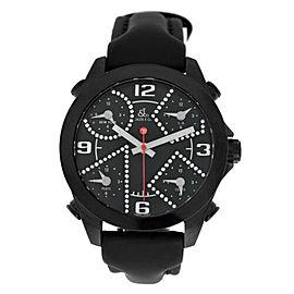 Jacob & Co. Five 5 Time Zone Unisex JCM-2BCDA 40mm PVD Diamond Dial Watch New