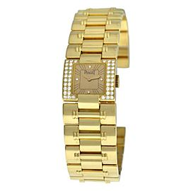 Ladies Piaget Dancer Carree 50011 K83 Diamond Solid 18K Gold 21MM 106 GR. Watch
