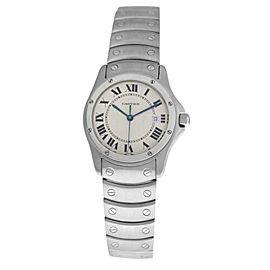 Unisex Cartier Santos Ronde 1561 1 Stainless Steel 30MM Quartz Date Watch
