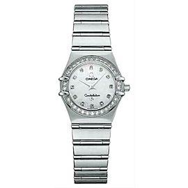 Ladies Omega Constellation 1460.75 Steel MOP Diamond Quartz 22MM Watch