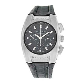 Unisex Bvlgari Bulgari Ergon L6452 Steel Chrono Diamond Automatic 35MM Watch