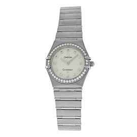 Ladies' Omega Constellation 895.1241 Steel MOP Diamond Quartz 26MM Watch