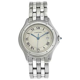 Unisex 33MM Cartier Panthere Cougar 987904 Quartz Steel Date Watch