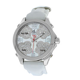 New Jacob & Co. Five Time Zone JCMATH12 Steel $13300 MOP Diamond 40mm. Watch