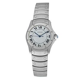 Unisex Cartier Santos Ronde 1561 Stainless Steel 30MM Quartz Date Watch