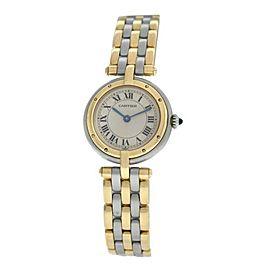 Ladies Cartier Panthere Vendome Three Row Gold Steel Quartz 24MM Watch