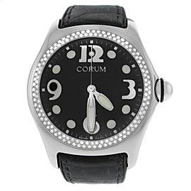 Mens Corum Boutique Bubble 163.150.20 Steel Diamond Quartz 45MM Watch