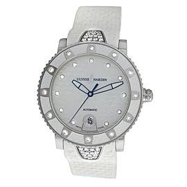 Ladies Ulysse Nardin Diver 8103-101E-3C/10 Steel Diamond Automatic 40MM Watch
