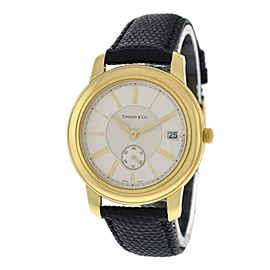 Unisex Tiffany & Co. Mark Round 18K Yellow Gold Date 37MM Quartz Watch