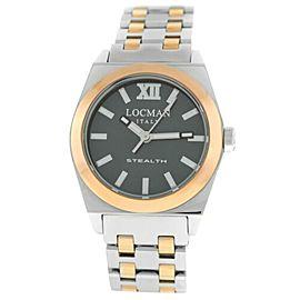 New Locman Stealth Ref. 204 Titanium Steel Gold Tone Ladies' Quartz 33MM Watch