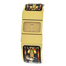 Hermes Paris Loquet Ladies Gold Plated Bracelet Quartz 19MM L01.201 Watch