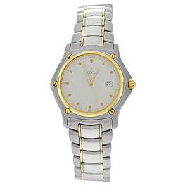 Mint Unisex Ebel 1911 Ref 187902 Steel 18K Gold 32mm Date Quartz Watch