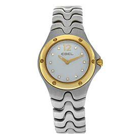 Ebel Sport Wave Ladies' Gold 28MM MOP Diamond Quartz $2,400 1956K21 Watch