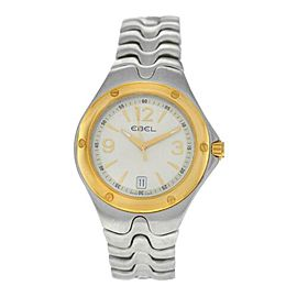 Ebel Sport Wave Men's Steel Gold 39MM 1955K41 Quartz $2,100 Watch
